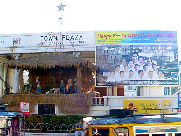 Town Plaza at Christmastime