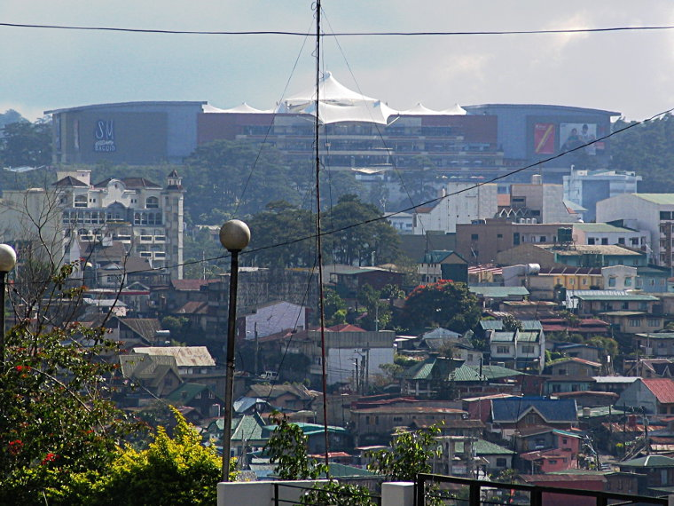 SM Baguio mall in the distance