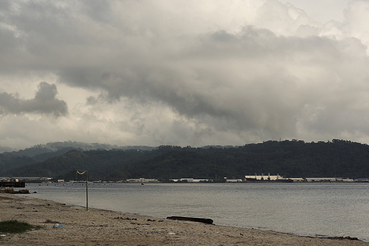 Cloudy Subic Bay Freeport