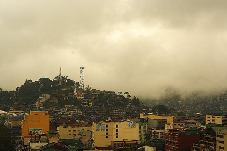 Baguio City Drenched in Fog