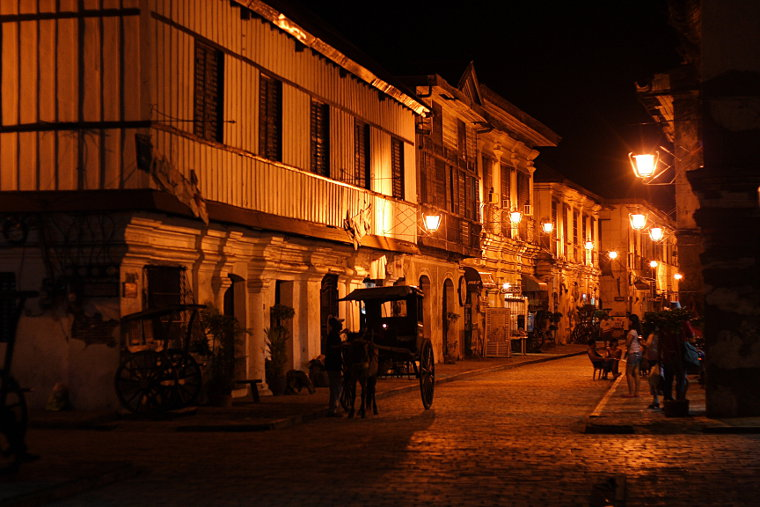Calle Crisologo in Vigan at Night II