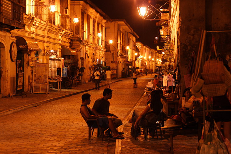 Calle Crisologo in Vigan at Night III