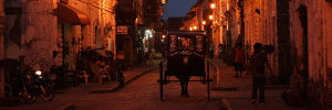 Calle Crisologo in Vigan at Night
