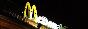 Nighttime shot of McDonalds in Vigan